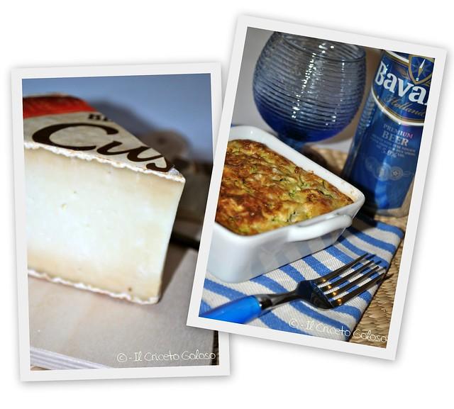 Gratin di zucchine, riso e Cusiè con Pecora e Vacca