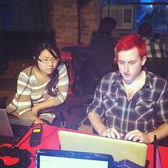 Now at @BentoMiso: @Netgrind mentors Christine in Game Maker.  #jeuxly