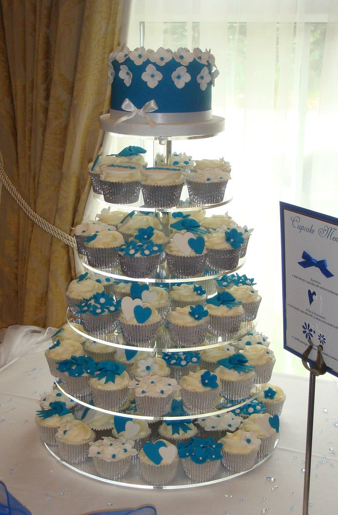 Blue And White Wedding Cupcakes A Photo On Flickriver