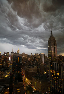 STORM over Empire State Building, NYC