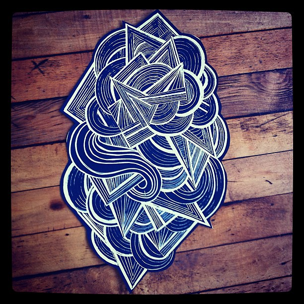 Lino block carving to screen print cun fection flickr