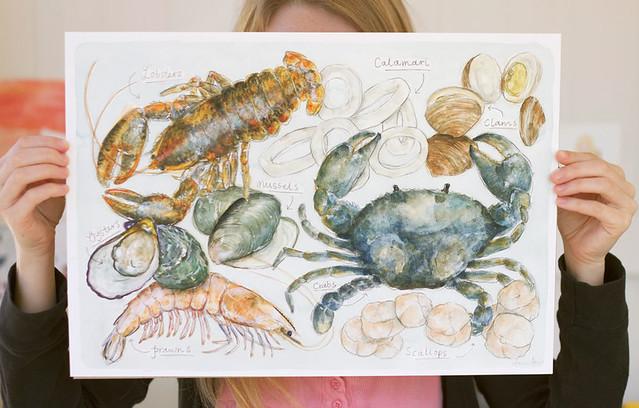 Dawn Tan Seafoody Print