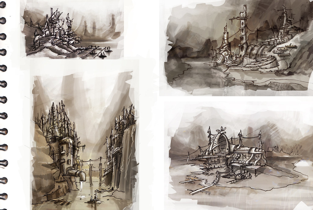Environments concept sketches