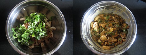 Chettinad Mushroom Biryani-step4