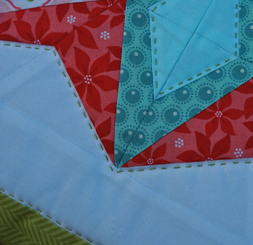 Star on fire quilting detail