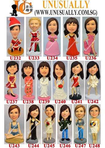 New Range Of Female Standard Design Figurines - U232 to U245 - © www.unusually.com.sg