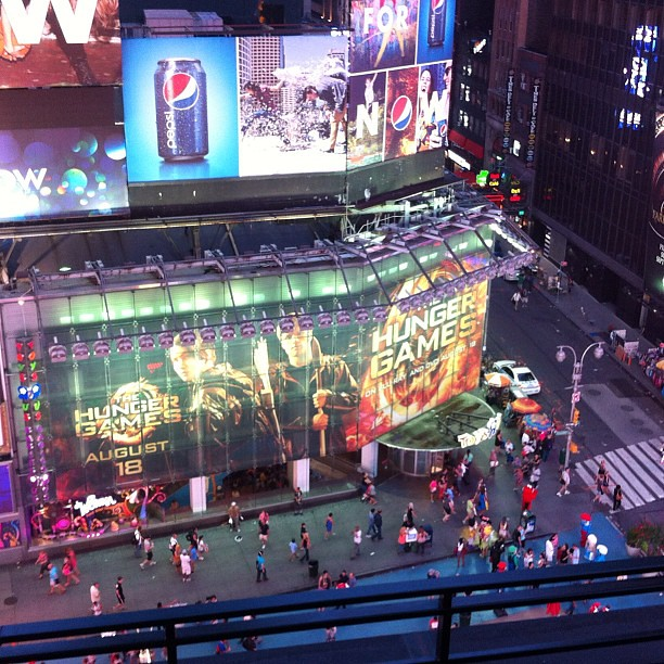 Taken from above, Ad for Hunger Games on DVD, NYC! #latergram