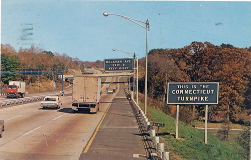 signs connecticut ct highways byron turnpikes scannedpostcards