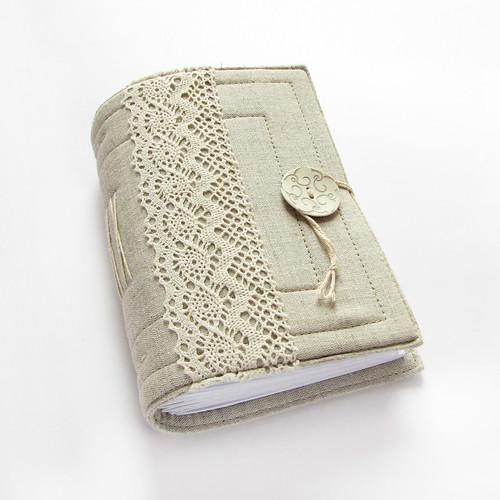 lacy linen journal