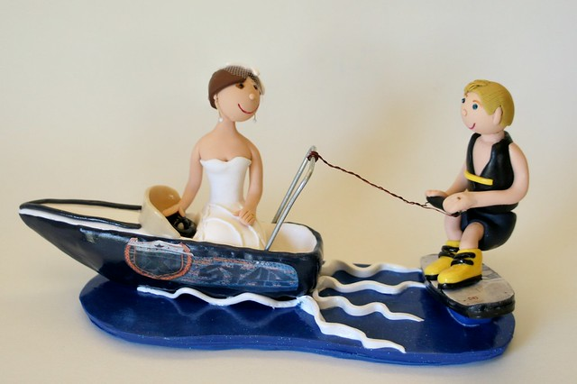 water ski wedding cake topper wakeboarding cake topper explore spiritmama s photos on 21682