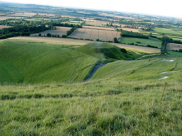 Oxfordshire - Aug 2004 - Below the Uffington White Horse