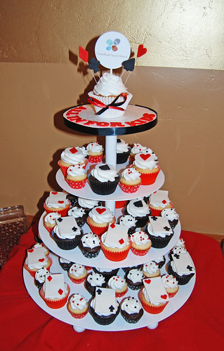 All in for Kids Camelback Desert School Casino Night Cupcake Tower