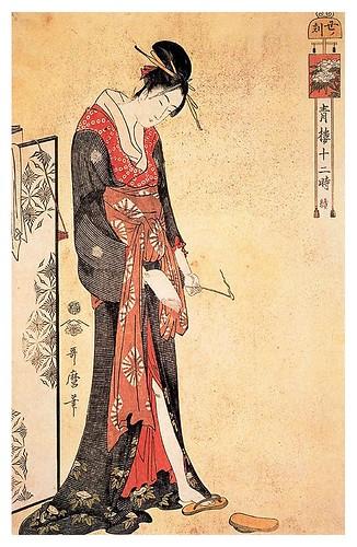 006-La hora del buey 1795-Kitagawa Utamaro-Ciudad de la Pintura