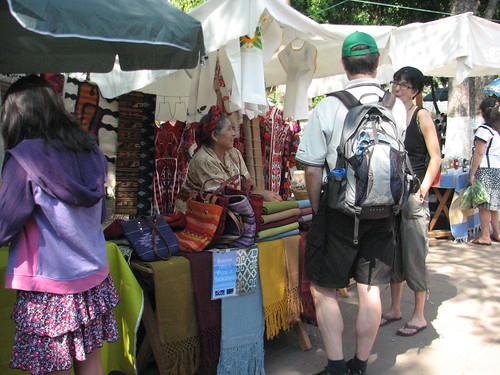 Angela visits with Tom and Blanca, Pochimilco Market @ Oaxaca 05.2012