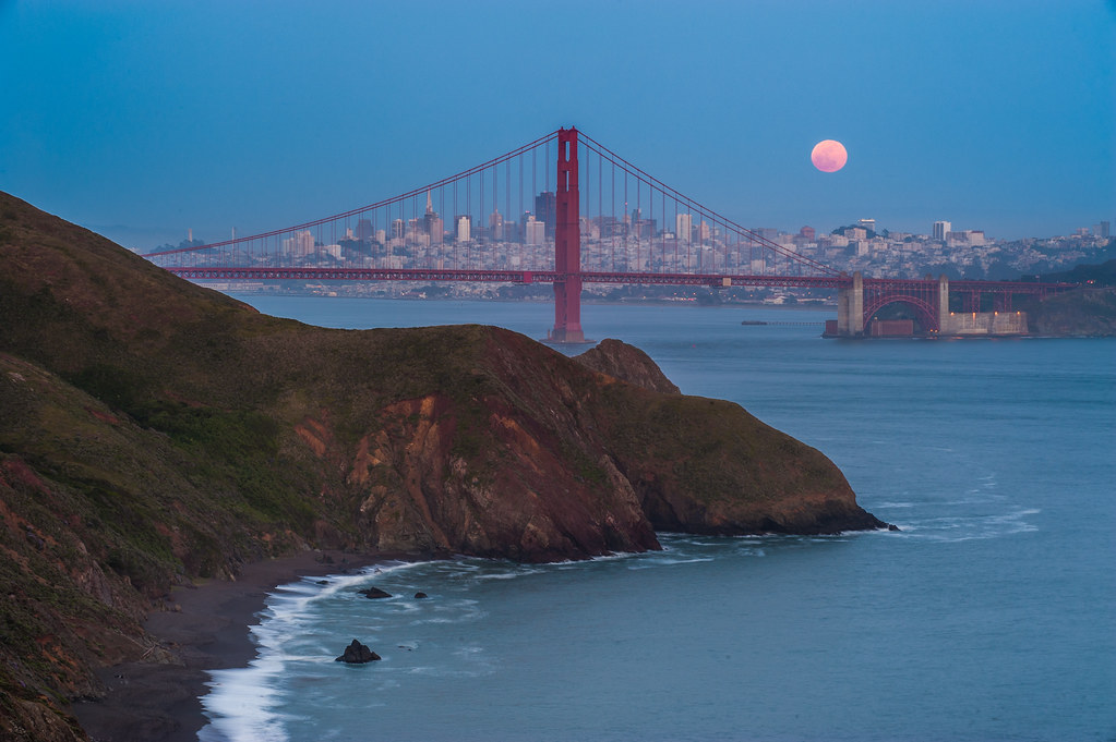Marin and the Super Moon, May 5th, 2012