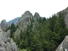 Punta di Quercitella et ses deux sommets depuis la crête Nord