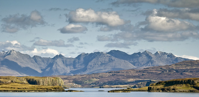 Skye / Scotland 2012 - Day 2 / The Black Cuillin, from Orbost