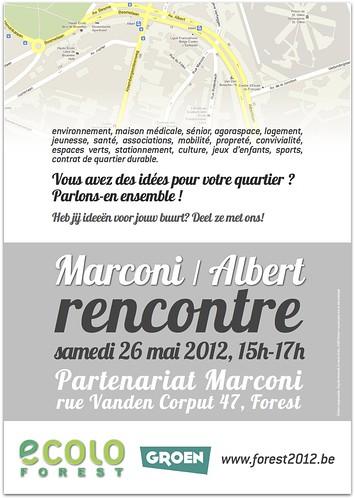 Rencontre de quartier Marconi & Albert : 26/05, 15h