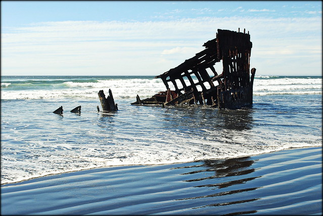 The Wreck of the Peter Iredale at Fort Stevens State Park - Astoria, Oregon