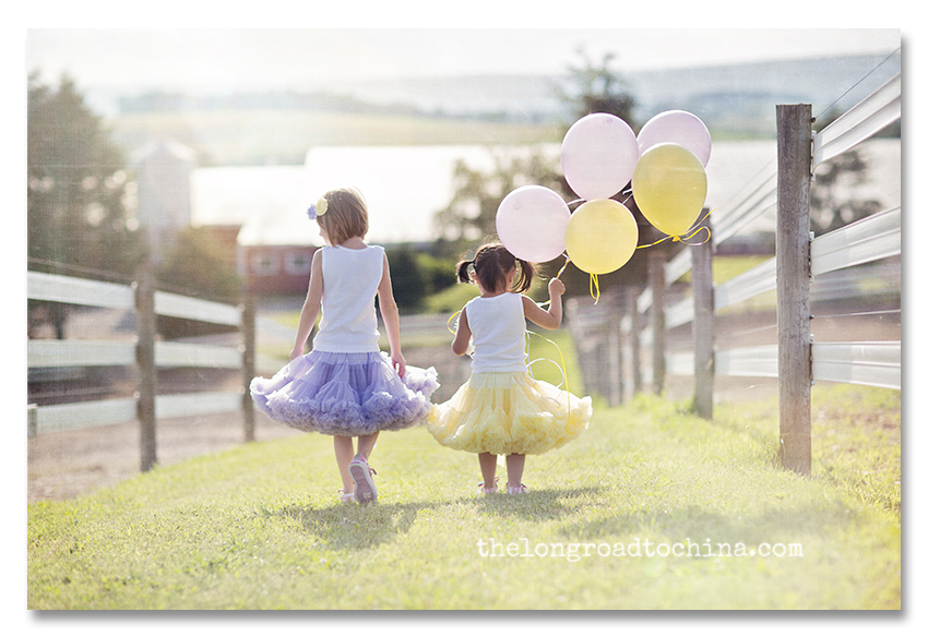 Two Sisters and A Bunch of Balloons BLOG