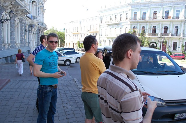 Alexey, Alexander And Jay, Looking At Catherine The Great Monument