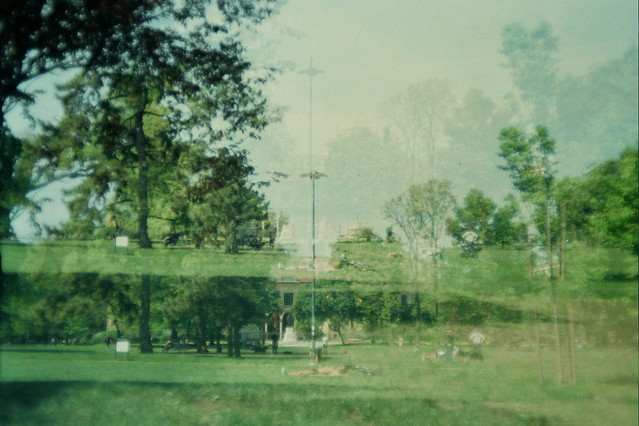milan, italy, trip, travel, fun, city, streets, emotions, feelings, short stay, 35mm film, Fujifilm 400, pubic park, sun, summer, spring, time, double exposure, chilling