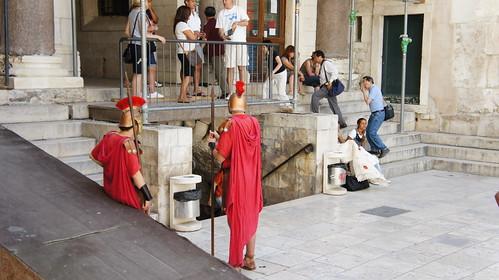 Roman Reenactors, Diocletian's Palace, Split, Croatia
