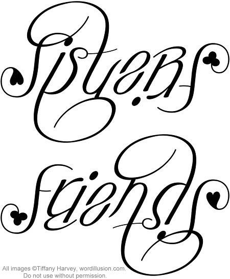 Sister Friend Tattoo