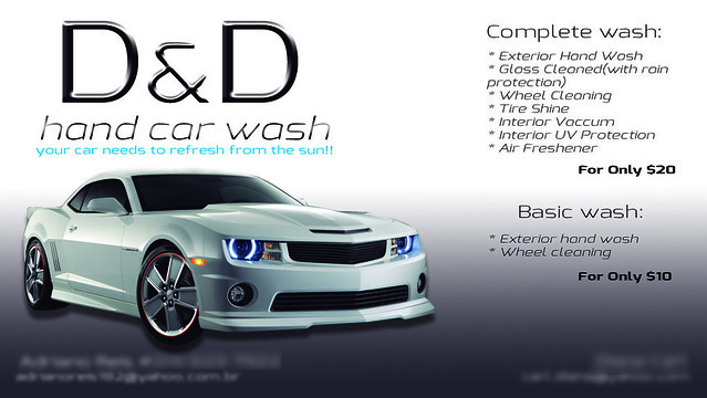 D d hand car wash business cardusa flickr for Car wash business cards