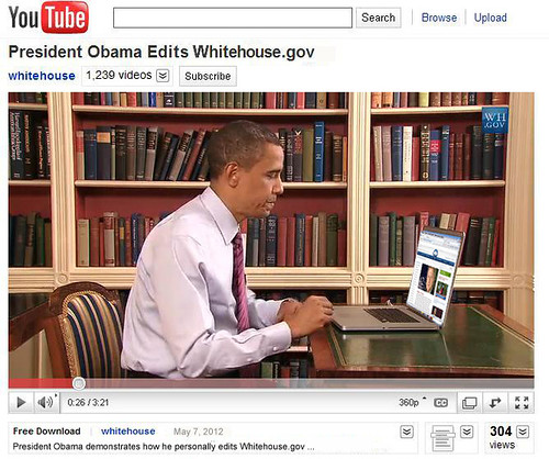 Obama Edits Whitehouse.gov