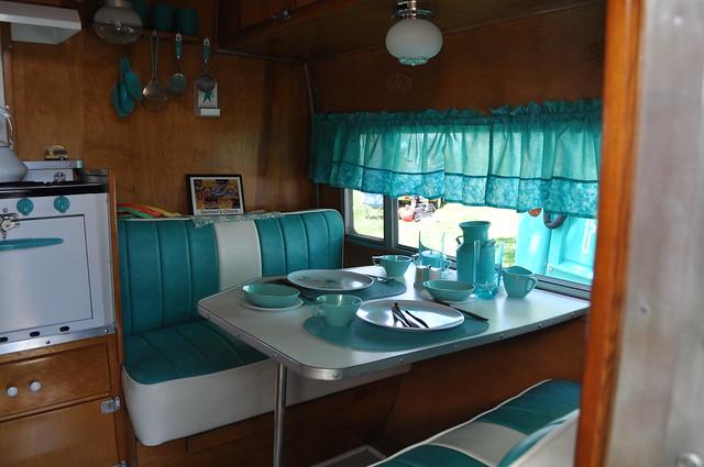Vintage Travel Trailer Interior