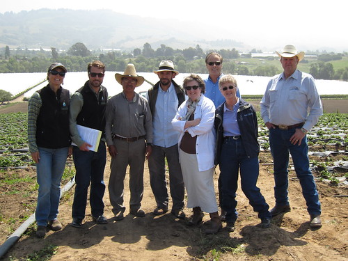 Deputy Secretary Kathleen Merrigan joins conservation officials on a tour of the Alvarez Farm in Watsonville, Calif on May 18.