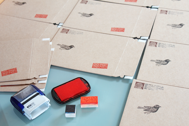 Stamping new envelopes