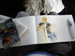watercolour sketching
