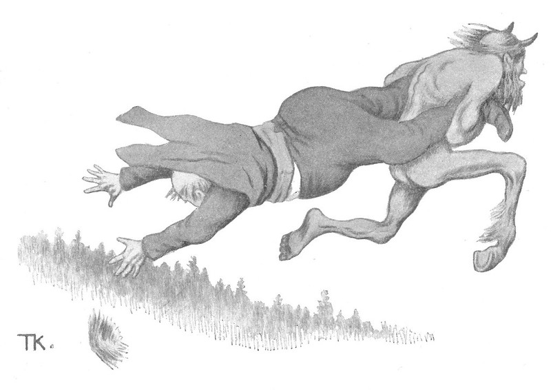 Theodor Kittelsen - Fande og futen,1907
