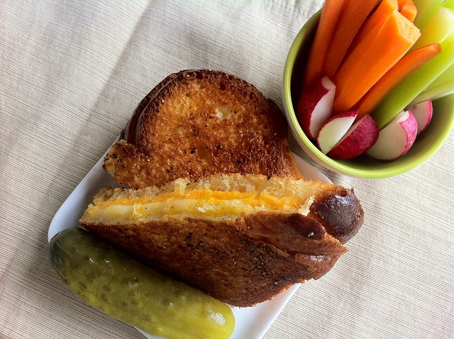 Grilled Cheese Triangle with Veggies