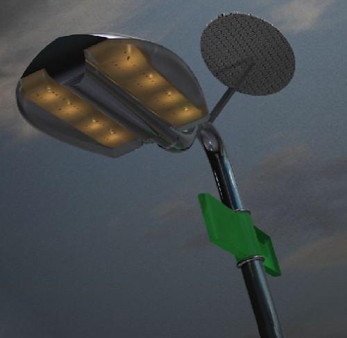 Изобретателем устройства под названием Holonic Streetlamp является Мария Хесус Авилайс.