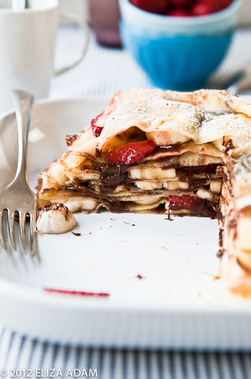 strawberry banana crepe cake-1-2