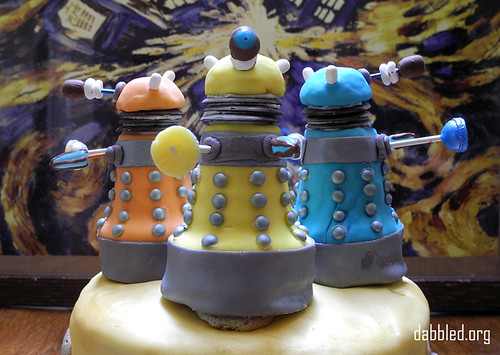 Homemade Doctor Who Dalek Cake