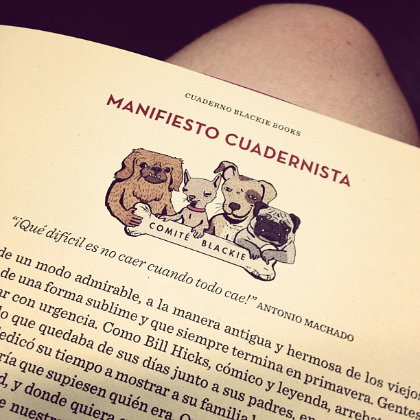 Manifiesto cuadernista de @blackiebooks