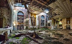 abandoned school gym