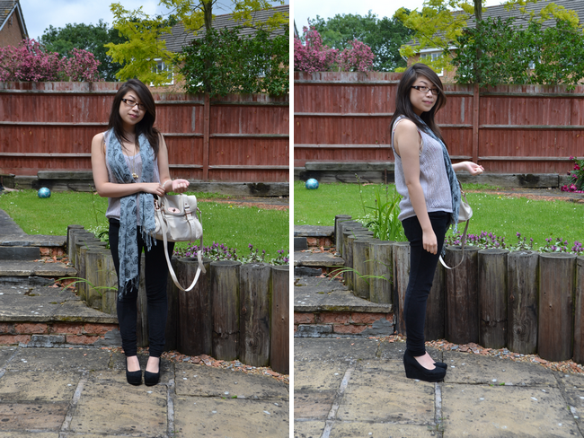 daisybutter - UK Style and Fashion Blog: what i wore, wiwt, ootd, fashion blogger, ever ours, glass boutique, something else, natalie wood, river island, mulberry alexa, SS12