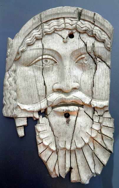 Ivory plaque depicting Dionysos, it decorated either a chest of a bed, Saepinum (Sepino, Italy), 1st century BC - 1st century AD, Archaeological Museum, Thessaloniki, Greece
