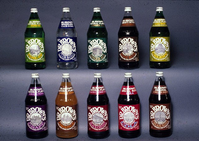 Dr. Brown's soda bottles designed by the Lubalin studio