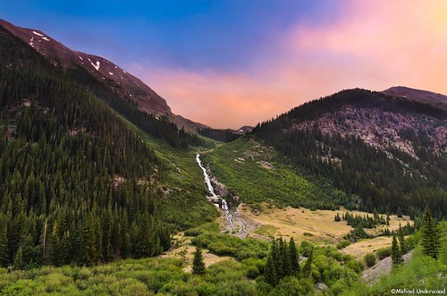 sunset summer landscape waterfall colorado scenic wilderness lakecity sanjuanmountains alpineloop engineerpass backcountrybyway hinsdalecounty nikond7000