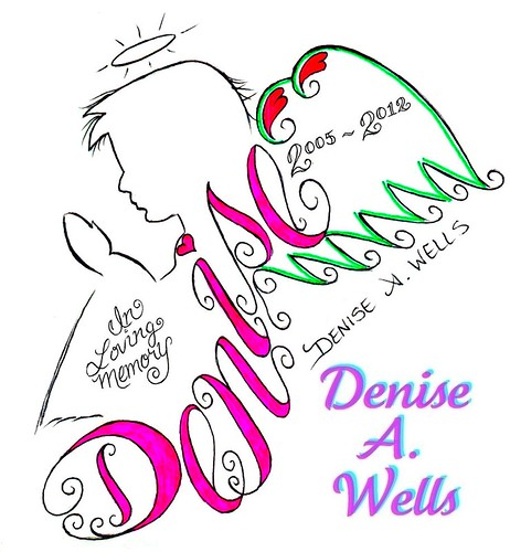 Denise Angel Memorial Tattoo desgin by Denise A. Wells