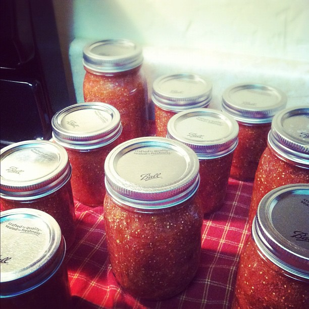 2 batches of fig jam. Happy. Tired. #canning
