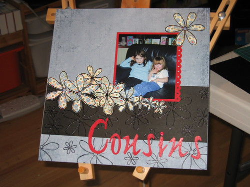 Cousins Scrapbooking Page