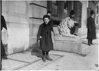 Joseph Harris, a 9 year old newsboy. Been selling 1 1/2 years. Hartford, Conn, March 1909