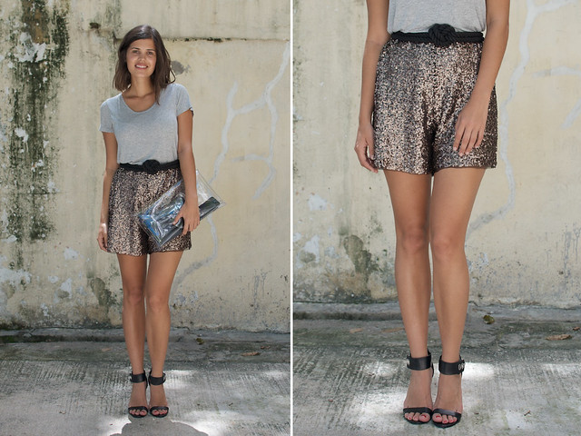 diy sequin shortss